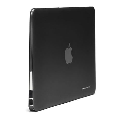 justjamz 2en 1Coque arrière rigide en plastique en caoutchouc doux au toucher mat avec protection clavier pour MacBook Air 11Noir