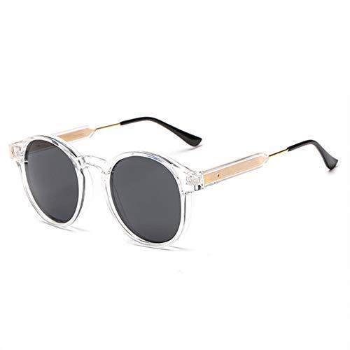 GJYANJING Sonnenbrille Retro Sonnenbrille Männer Frauen Vintage Kleine Sonnenbrille Runde Sonnenbrille Gelbe Gläser Shades Uv400