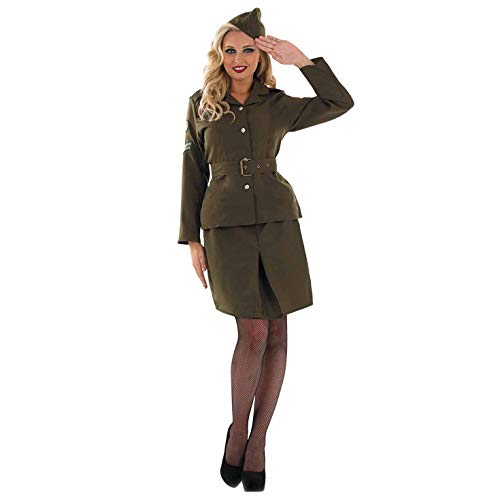 Weltkrieg 2 (WW2) - Armee-Mädchen - erwachsenes Abendkleid-Kostüm - - Weltkrieg 2 Frauen Kostüm