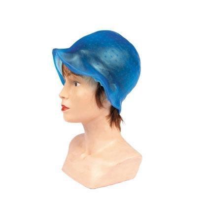 Bonnet à mèches en silicone réutilisable + crochet - décoloration