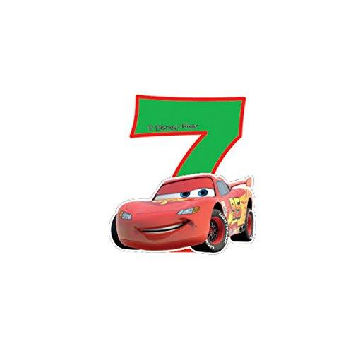 Disney NEON Cars 7. Geburtstag Kerze