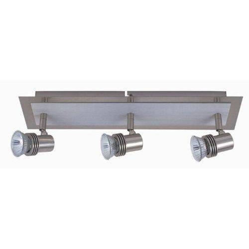 LED Strahler Serie Office 3 flammig Spotleuchte Deckenleuchte Spotbalken Wandlampe (Nickel-matt 3 flammig)