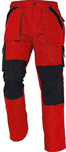 Stenso Max - Pantaloni da Lavoro in Cotone da Uomo Rosso/Nero 62