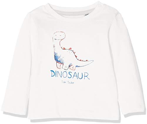 TOM TAILOR Kids Baby - Jungen T-Shirt 1/1, Weiß (Cloud Dancer|White 1610), 74