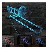 3D posaune Optische Illusions-Lampen, Tolle 7 Farbwechsel Acryl berühren Tabelle Schreibtisch-Nachtlicht mit USB-Kabel für Kinder Schlafzimmer Geburtstagsgeschenke Geschenk