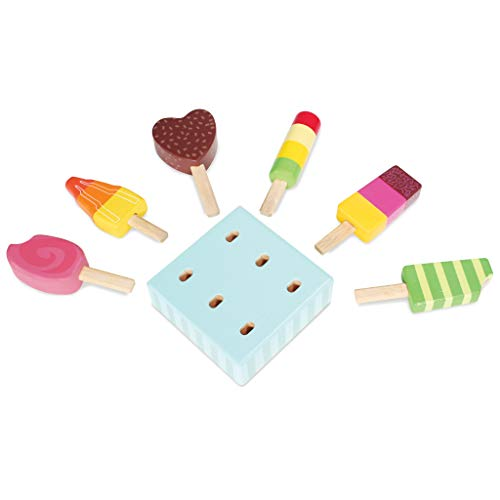 Le Toy Van - Educational Wooden Toy Honeybake Ice Lollies Pretend Play Kids Playset | 6 Pieces - Great Gifts For A Boy Or Girl