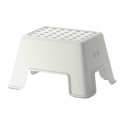 IKEA Bolmen Step Non-Slip 2 Farben, Plastic, White, 25 cm, Plastik, Weiß, 44 x 35 x 26 cm