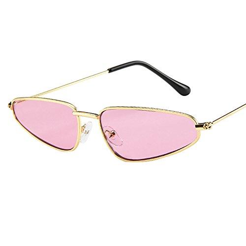 Spiegel Retro Sonnenbrille, Zolimx Mode Frauen Damen Kleine Rahmen Sonnenbrille Vintage Retro Cat Eye Sonnenbrille (Rosa)