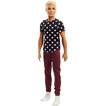 Stampa Ken Fashionistas A Pois Barbie Con BiancaUno T Shirt Nero rxdBoeCW