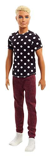 Barbie FJF72 Ken Fashionistas Puppe in schwarzen Shirt mit Punkten (Barbie Fashionista Puppe Ken)