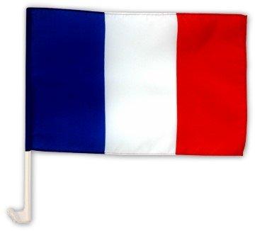 Autofahne Autoflagge Frankreich 30 x 45 cm (Tour De France Flag)
