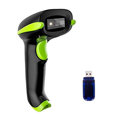 HWZDQLK Drahtloser 2D-Barcode-Scanner, 3 in 1, kompatibel mit Bluetooth-Funktion und 2,4-GHz-Drahtlos- und Kabelverbindung, zum Anschließen von Smartphones, Tablets, PCs und USB-Bild-Barcode-Lesegerät -