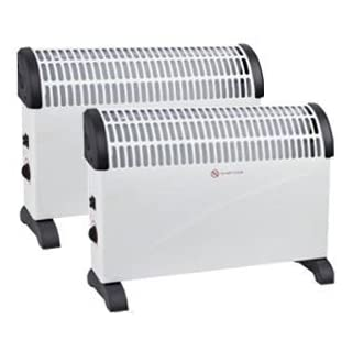 2 X 2000W PORTABLE ELECTRIC THERMOSTAT CONVECTOR HEATER WINTER 2KW WALL MOUNTED FAN