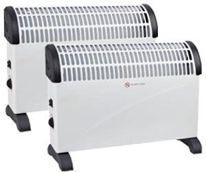 313tWUcesyL - 2 X 2000W Portable Electric Thermostat CONVECTOR Heater Winter 2KW Wall Mounted Fan