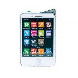 Champ - Mechero, piezoeléctrico, forma de iPhone DL-12, color blanco