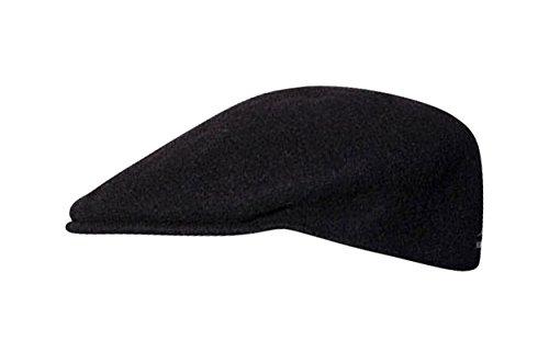 Graue Flatcap 504 von Kangol der Young Fashion Line aus 100% reiner Schurwolle Schwarz M (Kangol Trucker Hut)