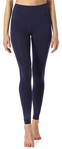 Merry Style Leggings Lunghi Pantaloni Donna MS10-221 (Blu Scuro, S)