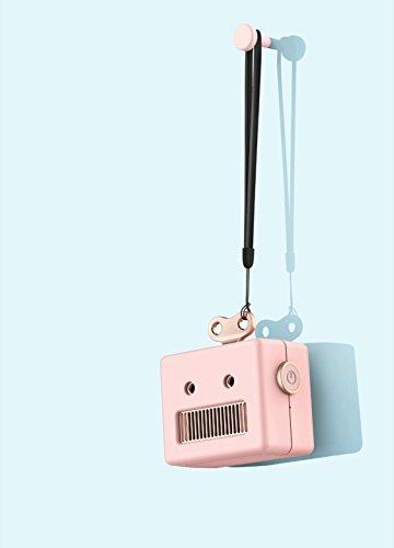 DowBier Mini Altavoz inalámbrico portátil Bluetooth Mini, Sonido Super Bass de Alta definición, Tiempo de reproducción de 10 Horas con micrófono Incorporado (Pink)