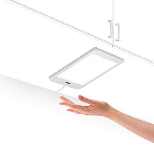 Lampada pannello a led per sottopensili e interne armadio da cucina con interruttore sensore di mano e adattatore di alimentazione luce naturale 4000k lot di 1 5w lampada di enuotek