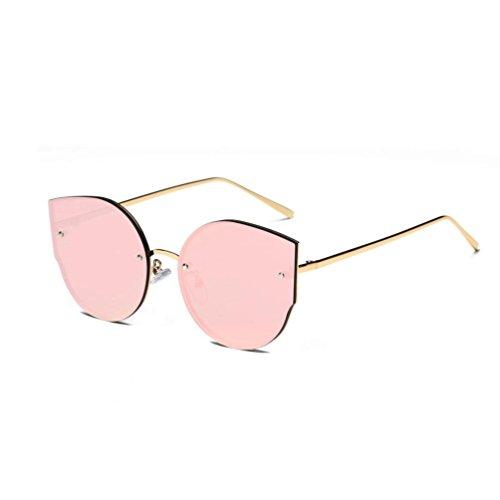 Holeider 2018 Neue Sonnenbrille Damen Schwarz, Womens Farben Vintage Cat Eye Spiegel Stilvolle Marke Retro Klassische Sonnenbrille (Rosa)