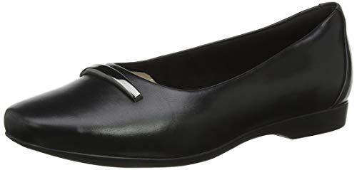 Clarks Un Darcey Way, Mocasines para Mujer, Negro Black Leather, 42 EU