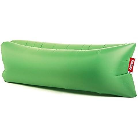 Fatboy Lamzac the Original Outdoor - Sofá verde hierba/200x50x90cm/inflado en cuestión de
