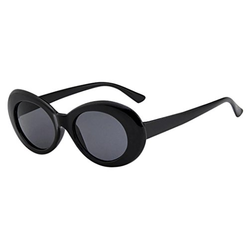 Solike Sonnenbrille für Damen Retro Look Cateye Oval Plastik Rahmen Nerd Brille Kunststoff Brillen Draussen Sunglasses (I)