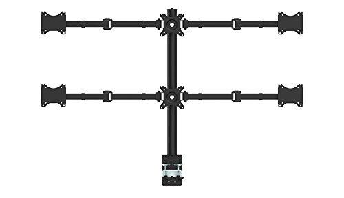 """Sechs Hex LCD Arm Monitor Tischhalterung Ständer Einstellbare 6 Bildschirme Fit für 10""""-27""""; Support Max 7kg Gewicht pro Arm"""
