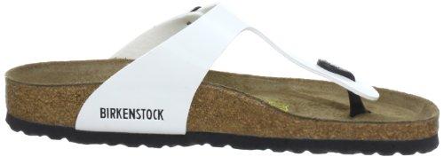 Birkenstock Gizeh Birko-flor, Sandales Pour Adulte Unisexe Blanc (weiss Lack)