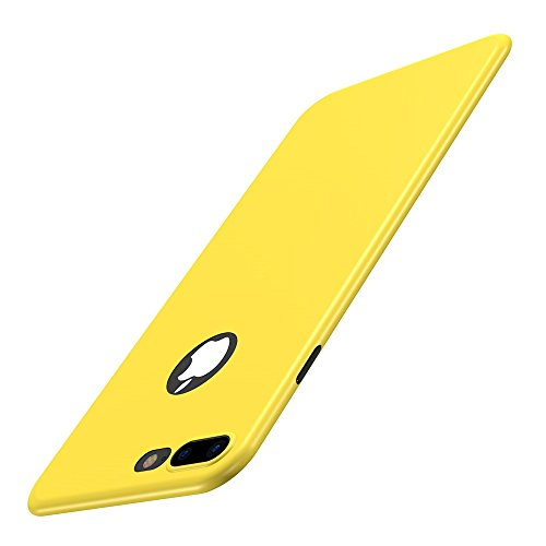 Custodia iPhone 7 Plus Cover, Qissy®Custodia Placcatura TPU Bumper Case Silicone Anti-graffio Copertura Tacsa Caso per apple iPhone 7 Plus/ 8 Plus 5.5 Case Cover Giallo