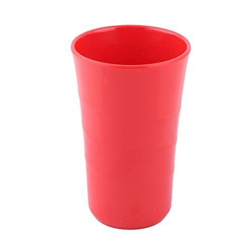 sourcingmap Haushalt Melamin Runde Kaffee Tee Wasser Milch Saft Trinkbecher Tasse Rot 400ml