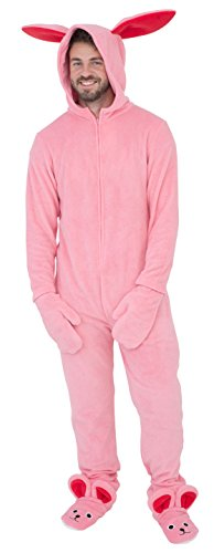 A Christmas Story Bunny Union Suit Pajama Costume (Adult Medium) (A Story-bunny-outfit Christmas)