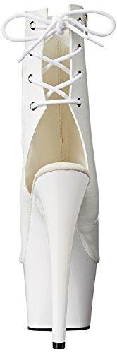 Pleaser Adore, Bottes Classiques femme, Noir, 38 EU Blanc (Blanc Mat)