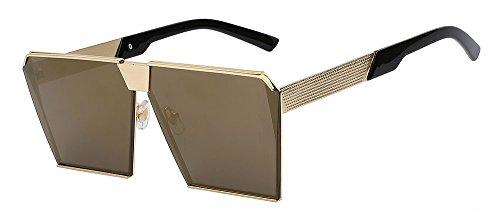 tianliang04Übergroße Damen Sonnenbrille Unique der Sonnenbrille Vintage Brille Rahmen für Frauen von hoher Qualität UV400, Gold w gold mirror