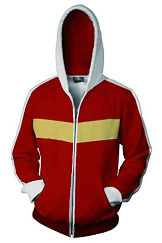 Voltron:Legendary Defender of The Universe Keith Akira Kogane Pulli Kapuzenpulli Cosplay Kostüm Rot ()
