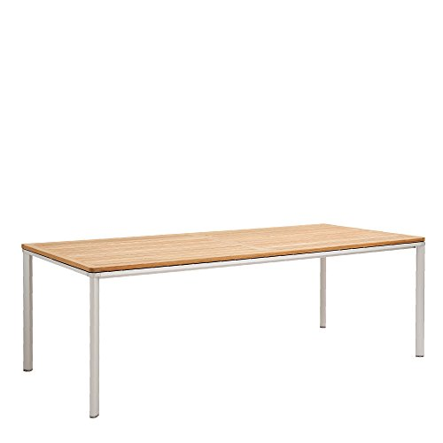 GARPA Portland Aluminium Tisch 220 x 100 Teak