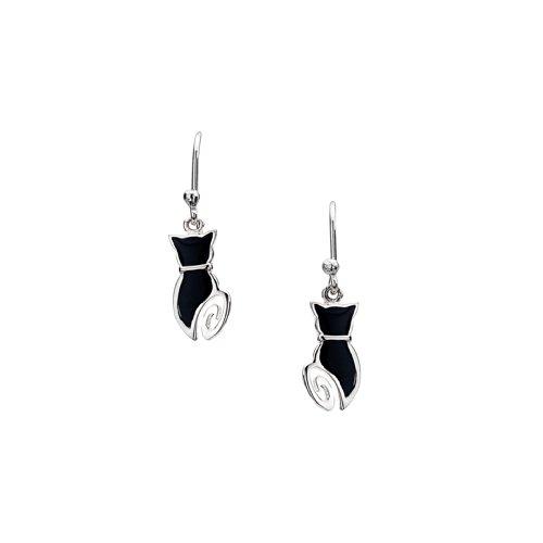 azzaria-plata-gato-negro-pendientes-de-gota-de-la-silueta-gota-15-cm-925-plata-hallmarked