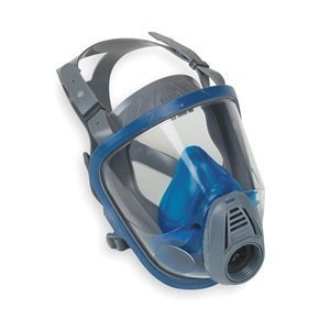 MSA 10031342 Hycar Advantage 3100 Facepiece with European Head Harness, Medium, Black by MSA (Msa-harness)