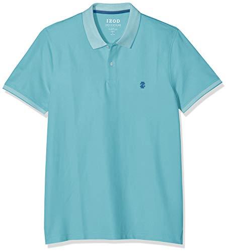 IZOD Performance - Poloshirt für Herren, Shirt aus hochwertigem Piqué-Stoff, farbenfrohes Basic, kurzarm Polo-Hemd, moderne & sportliche Herrenbekleidung, Größen: S - XXL 19 X Bay