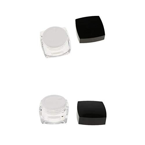 Homyl 2x 50g Pot Vide Rond en Acrylique Transparent avec Couvercle Cosmetic Container Rangement pour Crèmes Stockage Onguents Toners