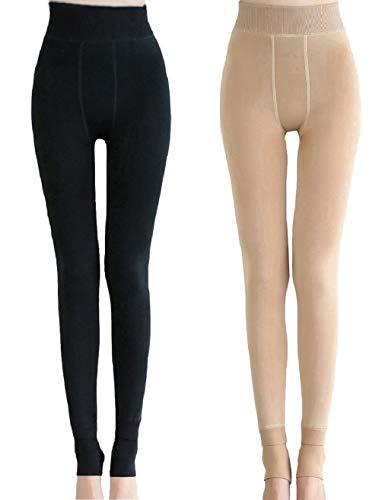 Heekpek 2 pack Medias Térmicas Mujer Pantalones Elásticos