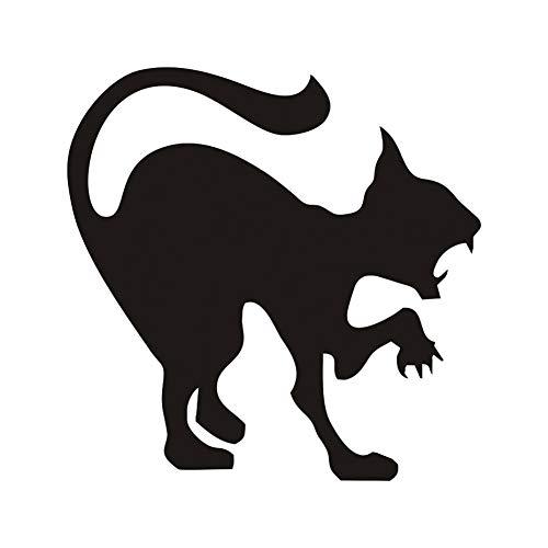 at Wandaufkleber Halloween Dekoration Zischen Katze Vinyl Aufkleber Wandkunst, Wütende Katze Hallowmas Home Decor Zubehör ()