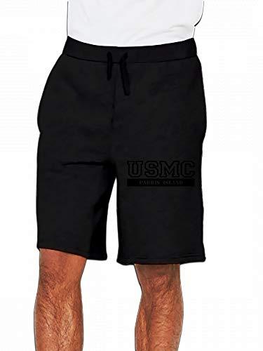 Usmc Parris Island (JiJingHeWang USMC Parris Island Mens Casual Shorts Pants)