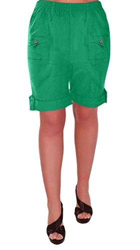 Eyecatch - Skye Dames Détendu Confort Élastique Flexible Étendue Aux Femmes Short Plus Tailles Vert Jade