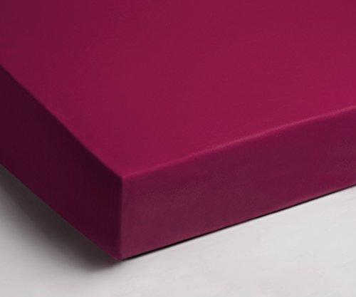Aminata – hochwertiges Spannbettlaken á 140x200 cm – 160x200 cm aus Jersey mit Rundumgummi in Pink Rosa Magenta Bettlaken Spannbetttuch Laken Baumwolle Einzelbett