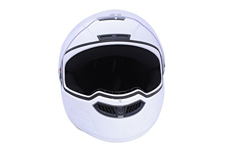 Steelbird STE_AIR_6 Air Classic Full Face Helmet with Visor (White, L)  available at amazon for Rs.1279