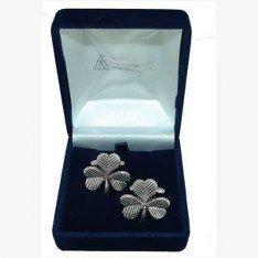 Shamrock Irish Manschettenknöpfe, Hochzeitsgeschenk, Trauzeuge, Amtsdiener, wird in Organza-Beutel geliefert