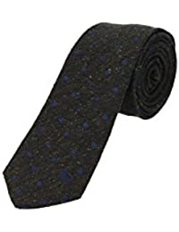 Corbata Burberry Hombre Seda Aceituna y Multicolor 39448841 Verde 7 cm