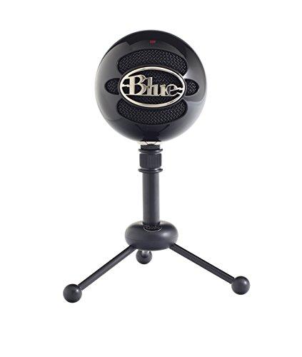 Blue Mircophones Snowball USB Mikrofon, Glänzend Schwarz (Blue Snowball Ice)
