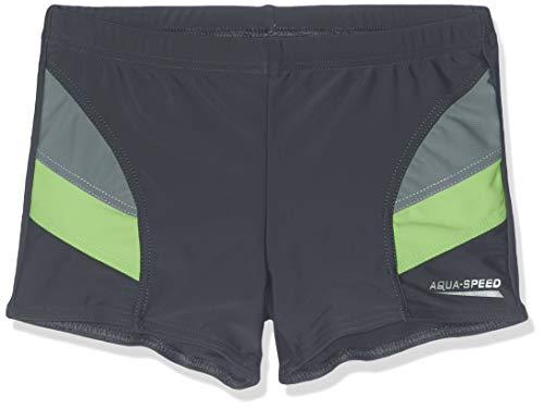 Aqua-Speed - Badehose für Kinder, Andy, grau-grün, Grösse 134